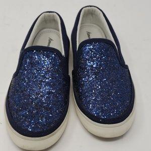 Hanna Andersson Mariah Blue Sparkle Slip On Sz 12